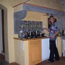 Me cooking in Tuscany