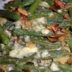 Green Bean Almondine with Garlic and Blue Cheese Recipe