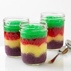 Whipped JELL-O Jars Recipe
