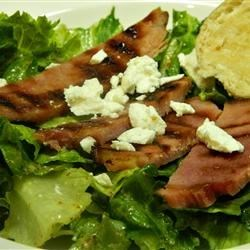 Photo of Ham Steak Over Mixed Greens by Jandree