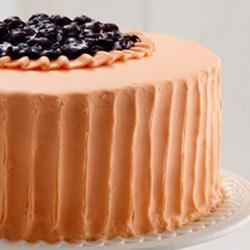 Orange Creme Blueberry Cake