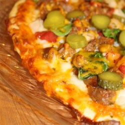 Big Cheeseburger Pizza Recipe