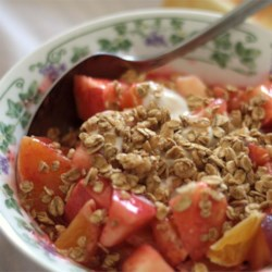 Fruit Salad with Vanilla Yogurt