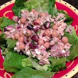 Photo of Tuna and Chickpea Salad by krissy g.