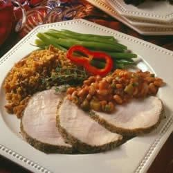 Boneless Pork Loin Roast with Herbed Pepper Rub Recipe