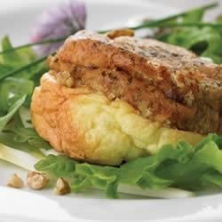 Individual Upside-down Goat Cheese Souffles Recipe