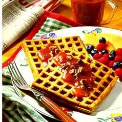 Photo of Nutty Pumpkin Waffles by Libby's® Pumpkin