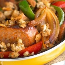 Skillet Sausage and Stuffing Recipe
