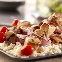 Photo of Garlic Pork Kabobs by Swanson®