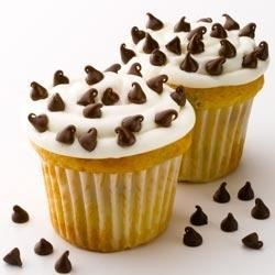 Mini Chip White Cupcakes Recipe