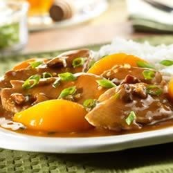 Pork Tenderloin with Peach and Pecan Sauce Recipe