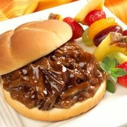 Pulled Barbecue Beef Sandwiches Recipe