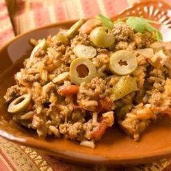 Pam's Beefy Spanish Rice Recipe