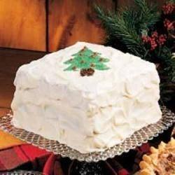 Photo of White Christmas Cake by Nancy  Reichert