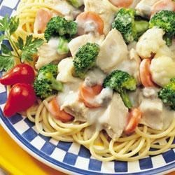 Campbell's(R) Healthy Request(R) Chicken and Pasta Primavera Recipe