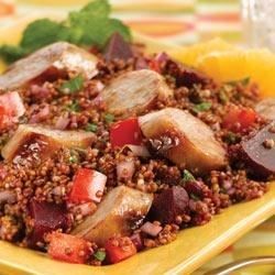 Inca Red Quinoa Salad with Sweet Apple Chicken Sausage Recipe