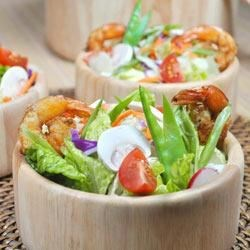 Grilled Shrimp Salad with Sesame Ginger Vinaigrette Recipe