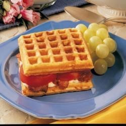 Photo of Cornmeal Waffle Sandwiches by Stacy  Joura