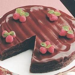 Photo of All-Chocolate Boston Cream Pie by HersheysKitchens.com