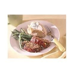 Southwestern Meat Loaf and Baked Potatoes Recipe