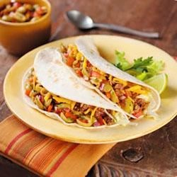 Baja Beef Soft Tacos with Lindsay(R) Olive-Chipotle Salsa Recipe