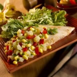 Broiled Chicken with Corn-Pineapple Salsa Recipe