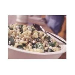 Cavatappi with Spinach, Garbanzo Beans, and Feta Recipe