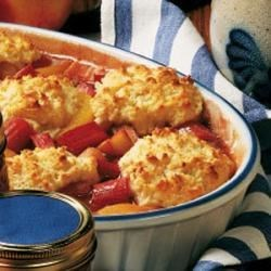 Photo of Rhubarb Peach Cobbler by Otto (Germaine) Stank