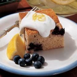 Photo of Blueberry Pudding with Lemon Cream Sauce by Belle  Kemmerer
