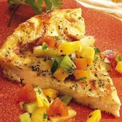 Baked Herb Omelet with Fruit Salsa Recipe