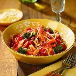 Angel Hair Pasta with Chicken and Vegetables Recipe