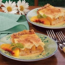 Photo of Sour Cream Peach Kuchen by Cathy  Elands