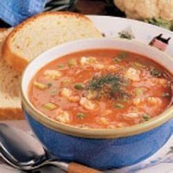 Photo of Cauliflower Tomato Soup by Katherine  Stallwood