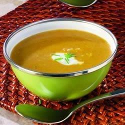 Floribbean Squash and Mango Soup with Coconut Milk