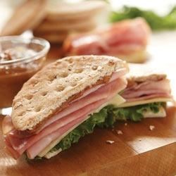 Ham and Swiss with Peanut Honey Sandwich Spread