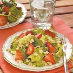 Photo of Crunchy Romaine Strawberry Salad by Leslie Lancaster
