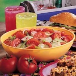 Photo of Make-Ahead Vegetable Salad by Kathy  Berndt