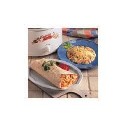 Photo of Slow Cooker Nacho Chicken and Rice Wraps by Campbell's Kitchen