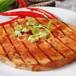 Fiesta Grilled Ham Steak Recipe