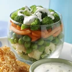 Hidden Valley Ranch Layered Vegetable Salad Recipe