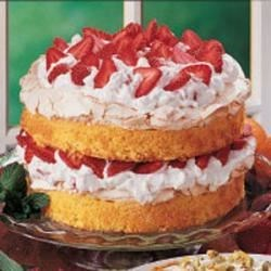 Photo of Strawberry Meringue Cake by Dorothy  Anderson