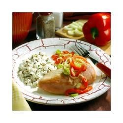 Photo of Leek and Red Pepper Chicken by Morton Salt