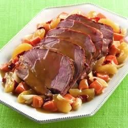 Photo of Sweet and Hot Apple Slow Cooker Pork by Lucky Leaf Fruit Filling