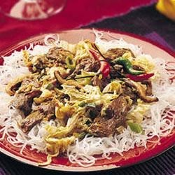 Sichuan Beef with Rice Stick Noodles Recipe