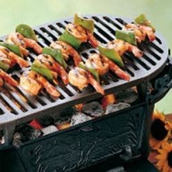 Sweet-and-Sour Skewered Shrimp