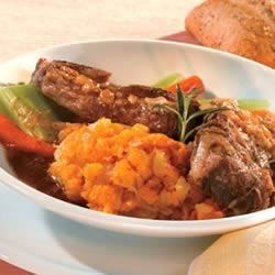 Photo of Red Wine Braised Short Ribs with Smashed Fall Vegetables by Campbell's Kitchen
