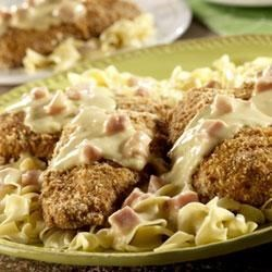 Crunchy Chicken with Ham Sauce Recipe