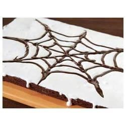 BAKER'S(R) ONE BOWL Spider Web Brownies Recipe