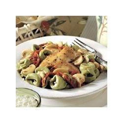 Chicken and Sundried-Tomato Saute with Spinach Tortellini Recipe