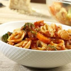 Tortellini-Vegetable Toss Recipe